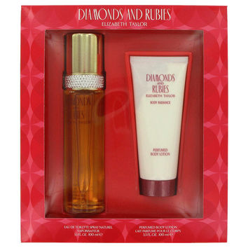 Diamonds & Rubies Perfume by Elizabeth Taylor-Gift Set - 3.3 oz Eau De Toilette Spray + 3.3 oz Body Lotion