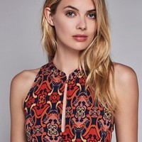Free People Get Together Printed Tunic