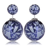 Gum Tee Mise en Style Tribal Earrings - Oriental Blue