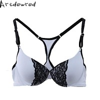 Artdewred Push UP Bra for Women sexy Y-line straps Plus Size Bra Lingerie Brassiere Women's Underwear Lace front closure Bra