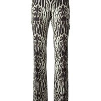 Roberto Cavalli animal print flared trousers