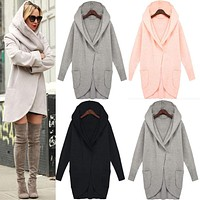 Autumn Long Sleeves Fashion Loose Wool Coat