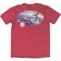 NCAA Alabama Crimson Tide Guy Harvey Men's Heathered Crimson Fishing Club T-Shirt