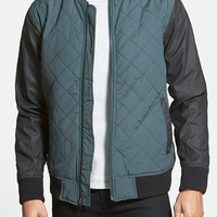 Men's RVCA 'Killing Moon' Quilted Jacket with Wax Coated
