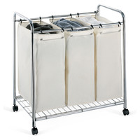 3-Section Laundry Sorter, Laundry Hampers