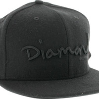 Diamond OG Script Hat 8 Black