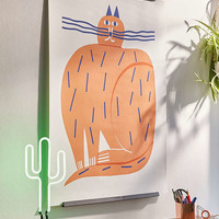 Marcus Oakley Cat Art Print - Urban Outfitters