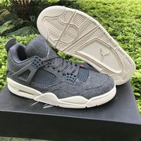 Air Jordan 4 grey Basketball Shoes 40-47