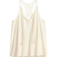 H&M Top with Lace Back $17.99