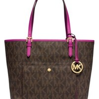 MICHAEL Michael Kors Jet Set Large Snap Pocket Tote | macys.com
