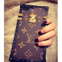 """Louis Vuitton"" LV iPhone X iPhone 8 iPhone 8 Plus - Popular Cute On Sale Hot Deal Matte Couple Phone Case For iphone 6 6s 6plus 6s plus iPhone 7 iPhone 7 plus I"