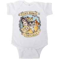 Cats Against Catcalls -- Baby Onesuit