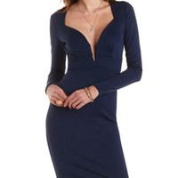 Plunging Open Back Bodycon Dress by Charlotte Russe