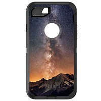 DistinctInk™ OtterBox Defender Series Case for Apple iPhone / Samsung Galaxy / Google Pixel - Milky Way Over Mountains