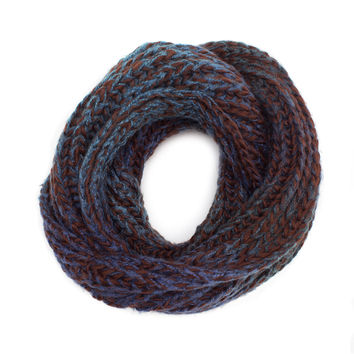 Enchanted Embrace Knit Scarf - Brown