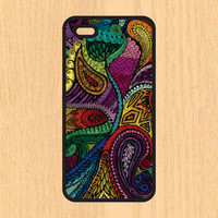 Paisley Art Print Cell Phone Case iPhone 4/4s 5/5c 6/6+ Case and Samsung Galaxy S3/S4/S5
