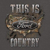 New FORD COUNTRY CAMO  T SHIRT POWERED BY FORD