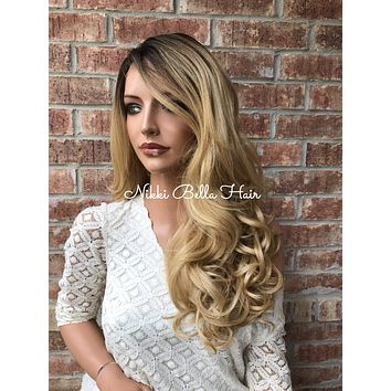 """Mickey Blonde Blended Hair Lace Front Wig 22"""""""