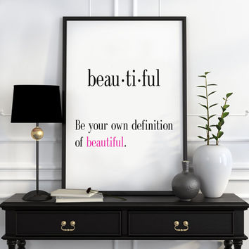 Definition of Beautiful Funny wall art Typography Print Funny Poster Name Definition Art Minimalist Art Art Print Instant Download Print