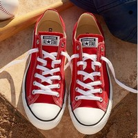 Tagre Converse Fashion Canvas Flats Sneakers Sport Shoes Low tops Red