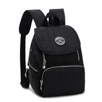 Fashion Women Water Resistant Nylon Backpack Mini  Student School Bags Kipled Casual Travel  Zipper Backpack