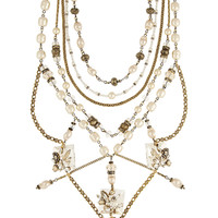 Erickson Beamon - Ballroom Dancing gold-plated, faux pearl and Swarovski crystal necklace