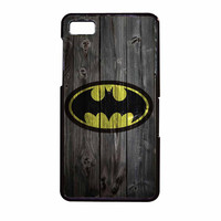 Batman Logo On Wood BlackBerry Z10 Case