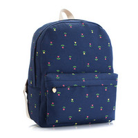 Canvas Blue Backpack = 4887509636