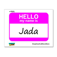Jada Is Hello My Name Is Sticker