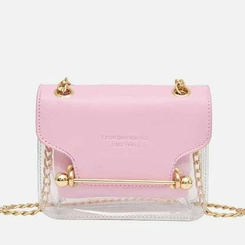 PU Chain Bag With Inner Pouch
