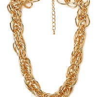 FOREVER 21 Statement Chains Choker Gold One