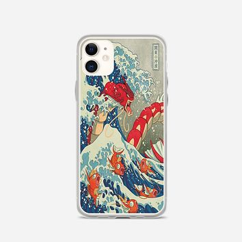 The Great Wave Of Kanto Pokemon iPhone 12 Case