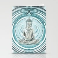 Serenity Meditation Bubble Stationery Cards by J. Carter McKinley