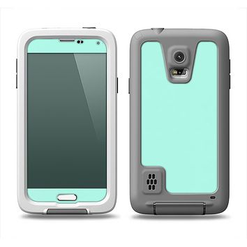 The Subtle Solid Green Samsung Galaxy S5 LifeProof Fre Case Skin Set