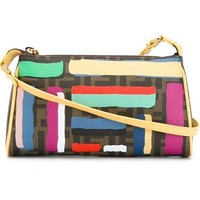 Fendi Ff Logo Striped Shoulder Bag - Stefania Mode - Farfetch.com