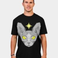 Geometric Sphynx Cat T Shirt