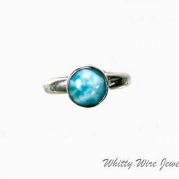 Sterling Larimar ring: custom orders