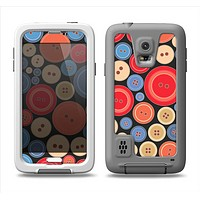 The Colored Vector Buttons Samsung Galaxy S5 LifeProof Fre Case Skin Set