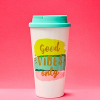 """""""Good Vibes Only"""" Thermal Tumbler"""