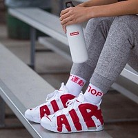 Online Nike Air More Uptempo White Red