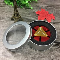 Hand Spinner Iron Man EDC Tri-Spinner Fidget Toys Metal Red fidget Spinner ADHD Adults Kids Children Educationa DIY Toys Hobbies