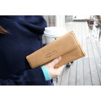 HOT Women Long Purse Wallet Checkbook Wallet Stylish Button Wallet four Colors