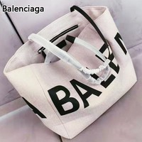 Balenciaga Fashion new letter print shoulder bag women