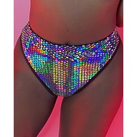 Galactic Prism Cheeky High-Cut Bottoms