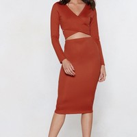 Together Again Crop Top and Skirt Set