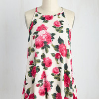 Villa You Remember Me? Top in Floral | Mod Retro Vintage Short Sleeve Shirts | ModCloth.com