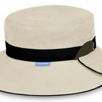 Reversible Resort UV Sun Protection Hat by Wallaroo Hats - Taupe with Black Band