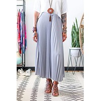 Lou Pleated Skirt - Gray