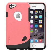 iPhone 6 Plus Case, Slicoo® [Lifetime Warranty] Dual-layer TPU Rubber Protective Carrying Cover Case for iPhone 6 Plus (5.5 inch) (Pink)