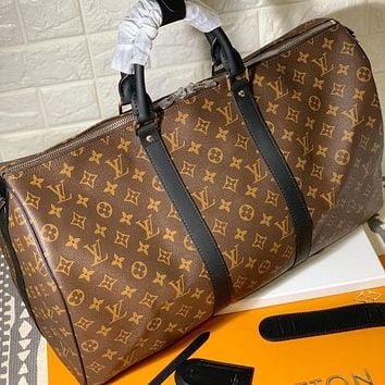 Louis Vuitton LV Classic Pattern Tote Bag Fashionable Men's and Women's Luggage Bags Registration bag travel bag